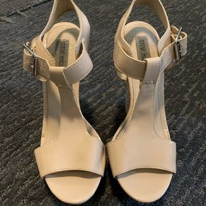 Steve Madden Nude Wedges with T Strap